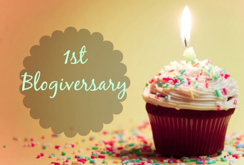 1st blogiversary, cupcake - happy birthday to my blog - a single candle