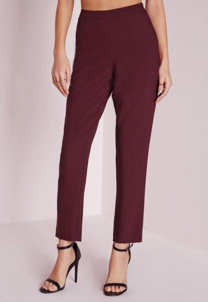 skinny-crepe-trousers-burgundy